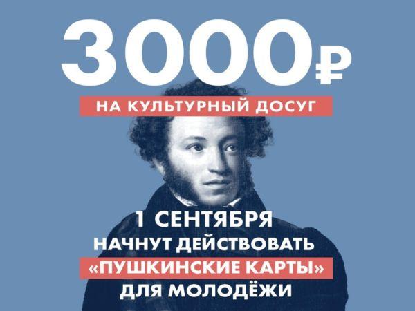 Мы стали участниками программы «Пушкинская карта»